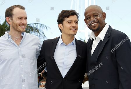 Stock Image of South African Actor Conrad Kemp (l) British Actor Orlando Bloom (c) and Us Actor Forest Whitaker (r) Pose During the Photocall For 'Zulu' at the 66th Annual Cannes Film Festival in Cannes France 26 May 2013 the Festival Closes with the Screening of the Movie Presented out of Competition France Cannes