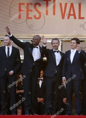 Stock Picture of (l-r) South African Actor Conrad Kemp Us Actor Forest Whitaker French Director Jerome Salle and British Actor Orlando Bloom Arrive For the Screening of 'Zulu' and the Closing Ceremony of the 66th Annual Cannes Film Festival in Cannes France 26 May 2013 the Award Ceremony is Followed by the Screening of 'Zulu' Presented out of Competition France Cannes
