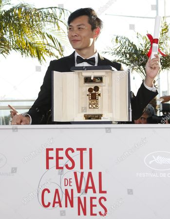 Singaporean Director Anthony Chen Poses During the Award Winners Photocall After He Won the Camera D'or Award For 'Ilo Ilo' at the 66th Annual Cannes Film Festival in Cannes France 26 May 2013 the Festival Runs From 15 Ro 26 May 2013 France Cannes