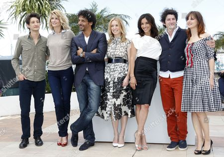 (l-r) French Actor Pierre Niney French Actress Alice Taglioni French Actor Tomer Sisley French Actress Lea Drucker French Actress Aure Atika French Actor Clement Sibony and French Actress Elodie Navarre Pose During the Adami Talents Photocall at the 66th Annual Cannes Film Festival in Cannes France 20 May 2013 the Festival Runs From 15 to 26 May France Cannes