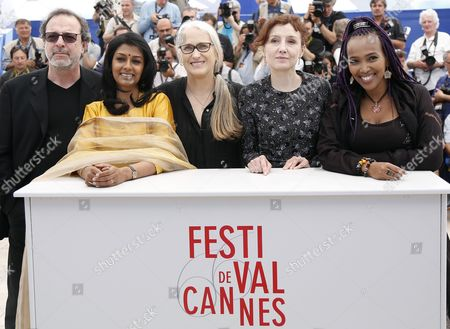 (l-r) Jury Members Turkish Director Semih Kaplanoglu Indian Actress Nandita Das New Zealand Director Jane Campion Italian Actress Nicoletta Braschi and Ethiopian Director Maji-da Abdi Pose During the Photocall of the Cinefondation Jury at the 66th Annual Cannes Film Festival in Cannes France 22 May 2013 the Festival Runs From 15 to 26 May France Cannes