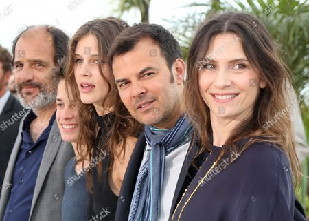 Stock Image of (l-r) French Actor Frederic Pierrot French Actor Fantin Ravat French Actress Marine Vacth French Director Francois Ozon and French Actress Geraldine Pailhas Pose During the Photocall For 'Jeune & Jolie' (young & Beautiful) at the 66th Annual Cannes Film Festival in Cannes France 16 May 2013 the Movie is Presented in the Official Competition of the Festival Which Runs From 15 to 26 May France Cannes