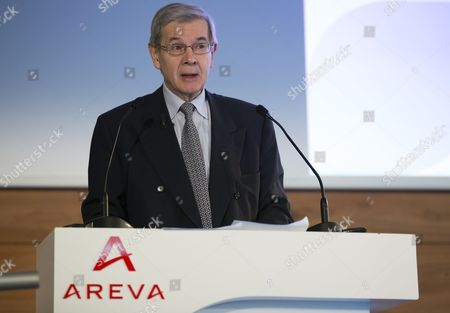 Chairman of French Nuclear Group Areva Philippe Varin During a News Conference at the Company Headquarters in Courbevoie Near Paris France 04 March 2015 Areva Announced It Made a Net Loss in 2014 of 4 8 Billion Euros and is Planning to Make Savings Worth 1 Billion Euros Over the Course of the Next Few Years France Courbevoie
