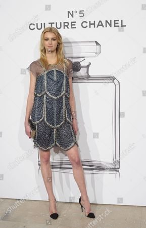 Swedish Model Sigrid Agren Poses During a Photocall For the 'N°5 Culture Chanel' Exhibition at Palais De Tokyo in Paris France 03 May 2013 the Exhibition Runs From 05 May Until 05 June 2013 France Paris