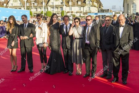 The Members of the Jury (l-r) Actress Lou Doillon Director Xavier Giannoli Actress and Director Helene Fillieres Actress and Director Famke Janssen Actor and Jury President Vincent Lindon Director Rebecca Zlotowski Writer Jean Echenoz Director Bruno Nuytten and Journalist Pierre Lescure Arrive For the Screening of 'Behind the Candelabra' and the Opening Ceremony of the 39th Annual Deauville American Film Festival in Deauville France 30 August 2013 Presented out of Competition the Movie Opens the Festival Which Runs From 30 August to 08 September France Deauville