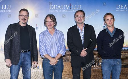 (l-r) Us Screenwriter Producer and Director Vince Gilligan Us Director Frank Spotnitz French Director and Novelist Marc Dugain and French Filmmaker Fabrice Gobert Pose During a Photocall After the 'French-american Meeting' During the 39th Annual Deauville American Film Festival in Deauville France 07 September 2013 the Festival Runs From 30 August to 08 September France Deauville