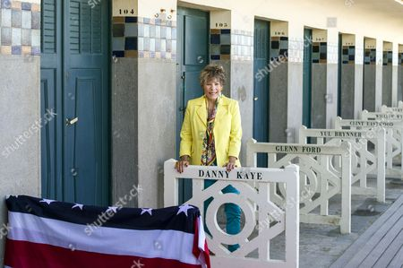 Stock Image of Dena Kaye the Daughter of Us Actor Danny Kaye (1913-1987) Unveils Her Father's Cabin Sign As a Tribute For His Career Along the Promenade Des Planches During the American Film Festival During the 39th Annual Deauville American Film Festival in Deauville France 04 September 2013 the Festival Runs From 30 August to 08 September France Paris