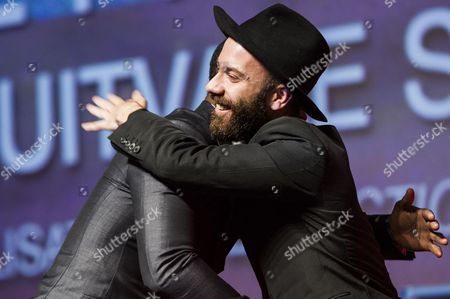 Us Film Director Ryan Coogler Hugs Us Musician and Film Director Woodkid (r) During the Closing Awards Ceremony of the 39th Annual Deauville American Film Festival in Deauville France 07 September 2013 the Movie 'Snowpiercer' Presented out of Competition Closes the Festival France Deauville