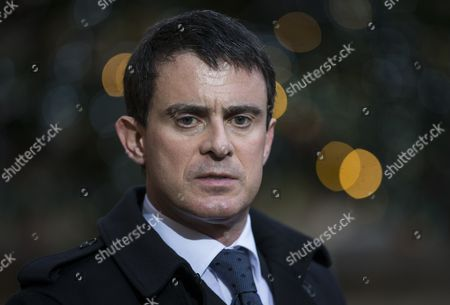 French Prime Minister Manuel Valls Speaks to Media After a Crisis Cabinet Meeting at the Elysee Palace in Paris France 08 January 2015 Government Minister Met Early in the Morning the Day After the Attacks in Paris on 07 January when Two Gunmen Opened Fire in the 'Charly Hebdo' Satirical Newspaper Headquarters in Paris Killing 12 People France Paris