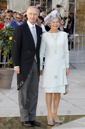 Archduke Carl-christian (l) and Archduchess Marie Astrid of Austria Arrive For the Religious Wedding Ceremony of Prince Felix of Luxembourg and Claire Lademacher at the Sainte Marie-madeleine Basilica in Saint-maximin-la-sainte-baume Southern France 21 September 2013 Celebrations Started on 17 September with a Civil Ceremony in Koenigstein Am Taunus Germany France Saint Maximin La Sainte Baume