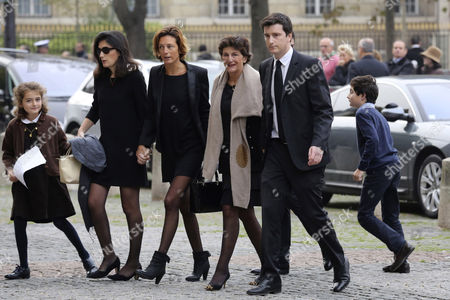 The Widow of Former Total Ceo Christophe De Margerie Bernadette De Margerie (2-r) Arrives with Relatives at the Saint Sulpice Church Prior to a Funeral Service in Paris France 27 October 2014 Former Ceo of the Oil Company Christophe De Margerie Died in an Air Crash in Moscow Russia on 21 October 2014 Along with Three Crew Members when a Snowplough Collided with the Plane He was on France Paris