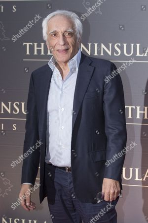 French Actor Gerard Darmon Poses For the Photographers During a Photocall Organized For the Inauguration of the Peninsula Hotel in Paris France 16 April 2015 France Paris