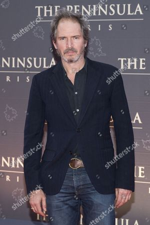 French Actor Christopher Thompson Poses For the Photographers During a Photocall Organized For the Inauguration of the Peninsula Hotel in Paris France 16 April 2015 France Paris