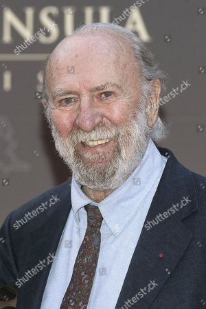 French Actor Jean-pierre Marielle Poses For the Photographers During a Photocall Organized For the Inauguration of the Peninsula Hotel in Paris France 16 April 2015 France Paris