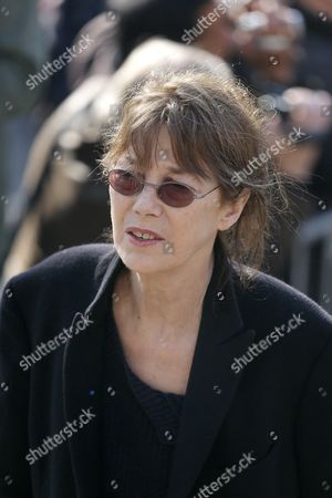 British-french Singer and Actress Jane Birkin Arrives at the Saint-vincent-de-paul Church to Attend the Funeral of French Director Alain Resnais in Paris France 10 March 2014 Resnais Died at the Age of 91 Years Old France Paris