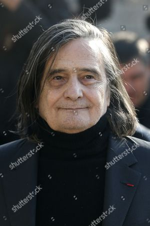 French Actor Jean-pierre Leaud Arrives at the Saint-vincent-de-paul Church to Attend the Funeral of French Director Alain Resnais in Paris France 10 March 2014 Resnais Died at the Age of 91 France Paris