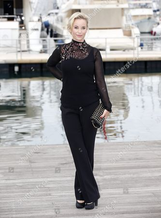 Swedish Actress Sofia Helin Poses During a Photocall For the Tv Series 'The Same Sky' at the Annual Mipcom Television Content Market in Cannes France 17 October 2016 the Media Event Runs From 17 to 20 October France Cannes