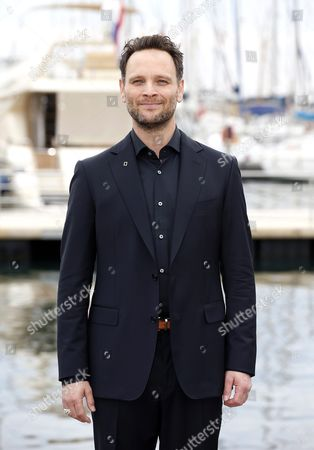 Canadian Actor Ben Cotton Poses During a Photocall For the Tv Series 'Mars' at the Annual Mipcom Television Content Market in Cannes France 17 October 2016 the Media Event Runs From 17 to 20 October France Cannes
