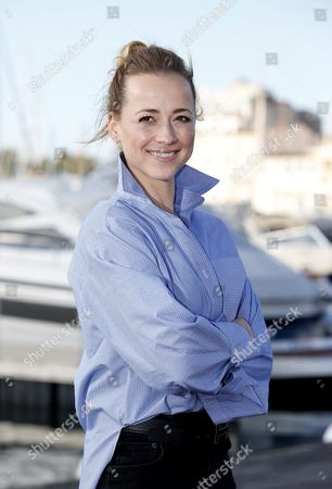 Stock Photo of Canadian Actress Karine Vanasse Poses During a Photocall For the Tv Series 'Cardinal' at the Annual Mipcom Television Content Market in Cannes France 18 October 2016 the Media Event Runs From 17 to 20 October France Cannes
