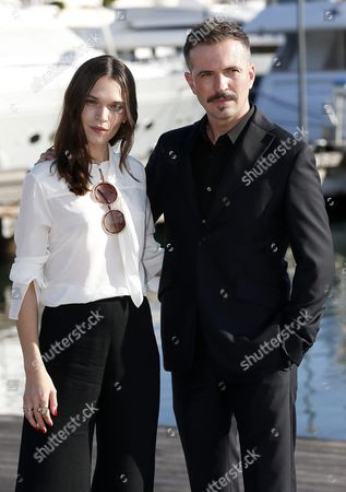 Stock Photo of British Actress Anna Brewster (l) and Canadian Actor Tygh Runyan (r) Pose During a Photocall For the Tv Series 'Versailles Series 2' at the Annual Mipcom Television Content Market in Cannes France 18 October 2016 the Media Event Runs From 17 to 20 October France Cannes