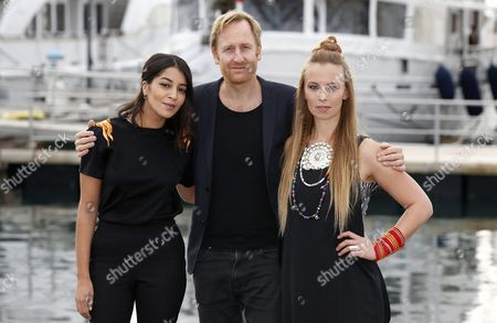 French Actress Leila Bekhti (l) Swedish Actor Gustaf Hammarsten (c) and Swedish Singer Sofia Jannok (r) Pose During a Photocall For the Tv Series 'Midnight Sun' at the Annual Mipcom Television Content Market in Cannes France 17 October 2016 the Media Event Runs From 17 to 20 October France Cannes