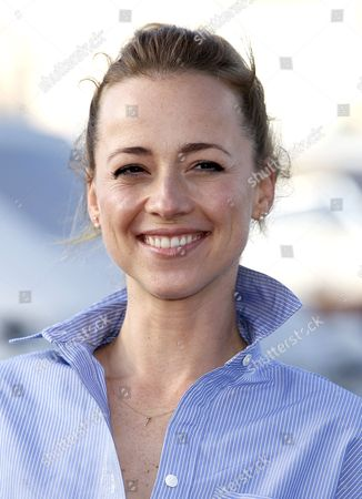 Stock Image of Canadian Actress Karine Vanasse Poses During a Photocall For the Tv Series 'Cardinal' at the Annual Mipcom Television Content Market in Cannes France 18 October 2016 the Media Event Runs From 17 to 20 October France Cannes
