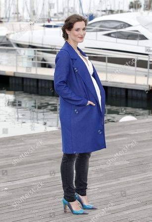 German Actress Friederike Becht Poses During a Photocall For the Tv Series 'The Same Sky' at the Annual Mipcom Television Content Market in Cannes France 17 October 2016 the Media Event Runs From 17 to 20 October France Cannes
