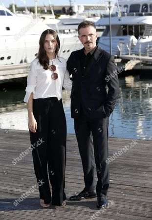 British Actress Anna Brewster (l) and Canadian Actor Tygh Runyan (r) Pose During a Photocall For the Tv Series 'Versailles Series 2' at the Annual Mipcom Television Content Market in Cannes France 18 October 2016 the Media Event Runs From 17 to 20 October France Cannes