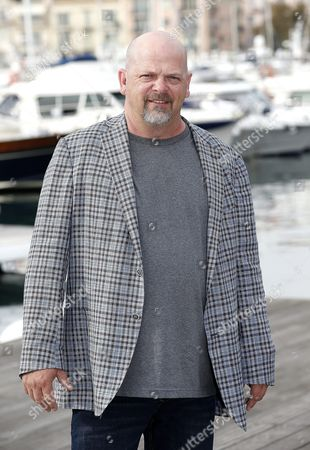 Stock Photo of Us Businessman Rick Harrison Poses During a Photocall For the Tv Series 'Pawn Stars' at the Annual Mipcom Television Content Market in Cannes France 17 October 2016 the Media Event Runs From 17 to 20 October France Cannes