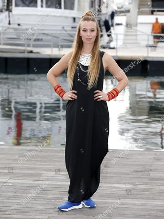 Swedish Singer Sofia Jannok Poses During a Photocall For the Tv Series 'Midnight Sun' at the Annual Mipcom Television Content Market in Cannes France 17 October 2016 the Media Event Runs From 17 to 20 October France Cannes