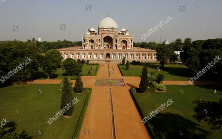 A General View of Humanyun's Tomb After Its Conservation Inaguration in New Delhi India 18 September 2013 the Restoration of the Architecture was Mainly Funded by the Aga Khan Trust the Mughal Architecture is a World Heritage Site and the First Example of This Type of Mughal Architecture in India Bega Begum Widow of Mughal Emperor Humayun Commissioned the Tomb and It was Built From 1565-1572 India New Delhi