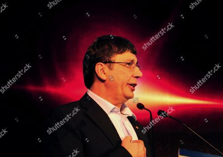 Andre Geim Nobel Laureate For the Year 2010 For Physics From the University of Manchester England Speaks During the Inauguration of the 6th Bangalore 'India Nano' at a News Conference in Bangalore 05 December 2013 Over 225 Leading International and Indian Companies and 50 Exhibitors Which Include German United Kingdom Korea and Japan Are Taking Part to Showcase Their Nanoscience Nano Technology Research and Development and Investors Giving an Excellent Platform For Knowledge-sharing Networking and Business India Bangalore