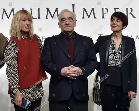 Us Photographer Cindy Sherman (l) Us Film Director Martin Scorsese (c) and French Visual Artist Annette Messager (l) Look on During a Photo Call For the 28th Praemium Imperiale in Tokyo Japan 17 October 2016 the Praemium Imperiale is a Global Arts Prize Awarded Annually by the Japan Art Association Five Laureates Are Nominated in the Fields of Painting Sculpture Architecture Music and Theatre/film For Its 28th Edition the Praemium Imperiale Awards Have Been Given to Us Photographer Cindy Sherman French Sculptor Annette Messager Brazilian Architect Paulo Mendes Da Rocha Latvian Musician Gidon Kremer and Us Film Director Martin Scorsese Japan Tokyo
