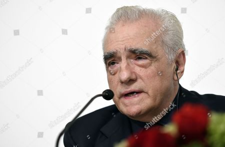 Stock Photo of Us Film Director Martin Scorsese Speaks During a Press Conference For the 28th Praemium Imperiale in Tokyo Japan 17 October 2016 the Praemium Imperiale is a Global Arts Prize Awarded Annually by the Japan Art Association Five Laureates Are Nominated in the Fields of Painting Sculpture Architecture Music and Theatre/film For Its 28th Edition the Praemium Imperiale Awards Have Been Given to Us Photographer Cindy Sherman French Sculptor Annette Messager Brazilian Architect Paulo Mendes Da Rocha Latvian Musician Gidon Kremer and Us Film Director Martin Scorsese Japan Tokyo