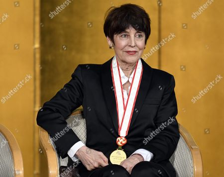 French Sculptor Annette Messager Attends the Awards Ceremony of the 28th Praemium Imperiale in Tokyo Japan 18 October 2016 the Praemium Imperiale is a Global Arts Prize Awarded Annually by the Japan Art Association Five Laureates Are Nominated in the Fields of Painting Sculpture Architecture Music and Theatre/film Japan Tokyo