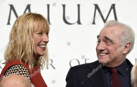Us Photographer Cindy Sherman (l) and Us Film Director Martin Scorsese (r) Share a Light Moment During a Photo Call For the 28th Praemium Imperiale in Tokyo Japan 17 October 2016 the Praemium Imperiale is a Global Arts Prize Awarded Annually by the Japan Art Association Five Laureates Are Nominated in the Fields of Painting Sculpture Architecture Music and Theatre/film For Its 28th Edition the Praemium Imperiale Awards Have Been Given to Us Photographer Cindy Sherman French Sculptor Annette Messager Brazilian Architect Paulo Mendes Da Rocha Latvian Musician Gidon Kremer and Us Film Director Martin Scorsese Japan Tokyo