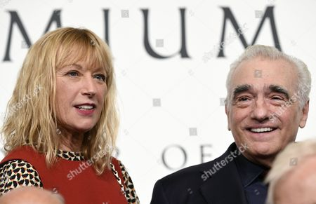 Us Photographer Cindy Sherman (l) and Us Film Director Martin Scorsese (r) Look on During a Photo Call For the 28th Praemium Imperiale in Tokyo Japan 17 October 2016 the Praemium Imperiale is a Global Arts Prize Awarded Annually by the Japan Art Association Five Laureates Are Nominated in the Fields of Painting Sculpture Architecture Music and Theatre/film For Its 28th Edition the Praemium Imperiale Awards Have Been Given to Us Photographer Cindy Sherman French Sculptor Annette Messager Brazilian Architect Paulo Mendes Da Rocha Latvian Musician Gidon Kremer and Us Film Director Martin Scorsese Japan Tokyo