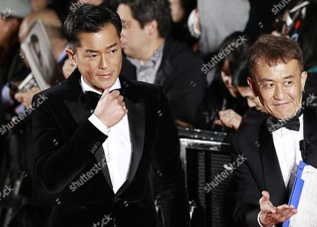 Actor Louis Koo (l) Attends the Opening Red Carpet Event of the 29th Tokyo International Film Festival (tiff) in Tokyo Japan 25 October 2016 the Tiff Will Show a Variety of Film Screenings Until 03 November Japan Tokyo
