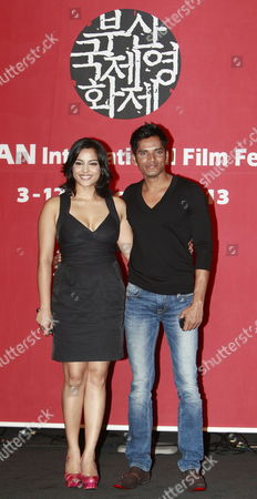 Indian Actors Shahana Goswami (l) and Devesh Ranjan Pose For the Press Conference Their Opening Film 'Vara: a Blessing' of the 18th Busan International Film Festival (biff) at Culture of Cinema Hall in Busan South Korea 03 October 2013 the Biggest Film Festival in Asia Showcases 301 Films From 70 Countries From 03 to 12 October in Busan Korea, Republic of Busan