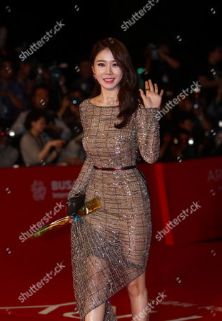 Stock Picture of South Korean Actress Yoo In-na Arrives at the Opening Ceremony of the 18th Busan International Film Festival (biff) in Busan South Korea 03 October 2013 the Festival Runs From 03 to 12 October 2013 Korea, Republic of Busan