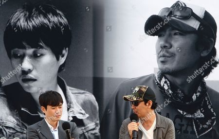 Stock Photo of South Korean Directors Ryoo Seung-wan (l) and Kim Jee-woon (r) Attend the Open Talk 'Action Battle of the Directors: Kim Jee-woon and Ryoo Seung-wan' As Part of the 18th Busan International Film Festival (biff) at the Haeundae Biff Village in Busan South Korea 05 October 2013 the Biggest Film Festival in Asia Showcases 301 Films From 70 Countries From 03 to 12 October Korea, Republic of Busan