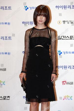 South Korean Actress Han Hyo-joo Arrives For the 49th Annual Baeksang Art Awards at the Kyunghee University in Seoul South Korea 09 May 2013 Korea, Republic of Seoul