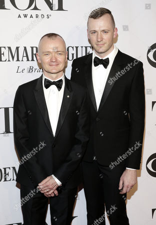 Director Darko Tresnjak (l) and His Husband Josh Pearson Pose on the Red Carpet at the 2014 Tony Awards at Radio City Music Hall in New York New York Usa 08 June 2014 the Annual Awards Honor Excellence in Broadway Theatre United States New York