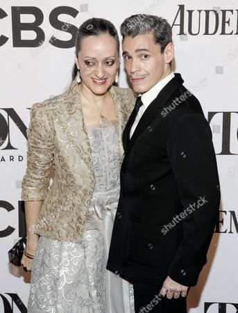 Fashion Designer Isabel Toledo (l) and Artist Ruben Toledo Both Cuban-american Pose on the Red Carpet at the 2014 Tony Awards at Radio City Music Hall in New York New York Usa 08 June 2014 the Annual Awards Honor Excellence in Broadway Theatre United States New York