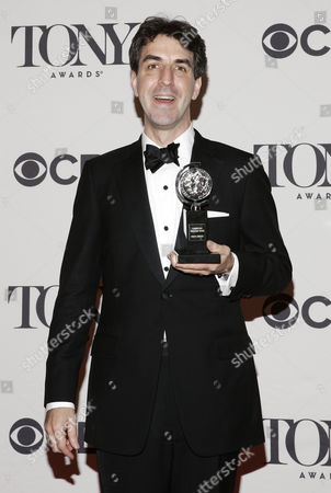Composer Jason Robert Brown Holds the Tony Award For Best Original Score Written For the Theater For His Work on 'The Bridges of Madison County' in the Press Room at the 2014 Tony Awards at Radio City Music Hall in New York New York Usa 08 June 2014 the Annual Awards Honor Excellence in Broadway Theatre United States New York