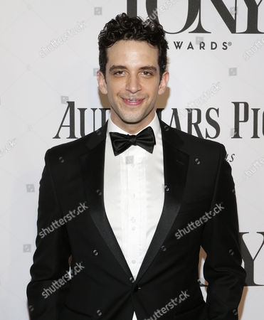 Actor Nick Cordero of Canada Poses on the Red Carpet at the 2014 Tony Awards at Radio City Music Hall in New York New York Usa 08 June 2014 the Annual Awards Honor Excellence in Broadway Theatre United States New York