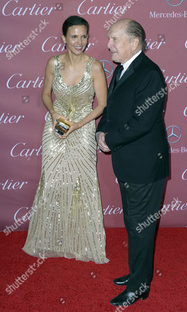 Us Actor Robert Duvall (r) and Wife Luciana Pedraza (l) Arrive For the Palm Springs International Film Festival Gala in Palm Springs California Usa 03 January 2015 United States Palm Springs