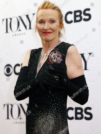British Costume Designer Catherine Zuber Winner of the Award For Best Costume Design of a Musical For 'The King and i ' Poses in the Press Room at Radio City Music Hall in New York New York Usa 07 June 2015 the Annual Awards Honor Excellence in Broadway Theatre United States New York