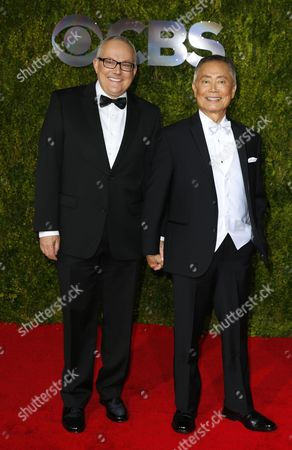 Us George Takei (r) and Husband Brad Altman Arrives on the Red Carpet at the 2015 Tony Awards at Radio City Music Hall in New York New York Usa 07 June 2015 the Annual Awards Honor Excellence in Broadway Theatre United States New York