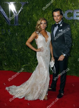 Stock Picture of Angel Reed and Constantine Maroulis Arrive on the Red Carpet at the 2015 Tony Awards at Radio City Music Hall in New York New York Usa 07 June 2015 the Annual Awards Honor Excellence in Broadway Theatre United States New York
